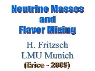 H. Fritzsch LMU Munich