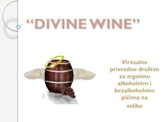 Virtualno privredno dru štvo za trgovinu alkoholnim i bezalkoholnim pićima na  veliko