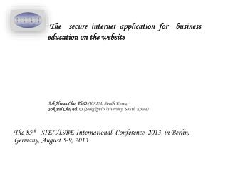 The  secure internet application for  business education on the website