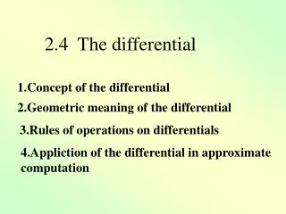 2.Geometric meaning of the differential