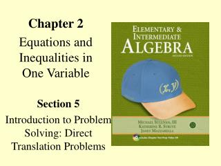 Chapter 2 Equations and Inequalities in One Variable