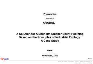 Presentation prepared for ARABAL