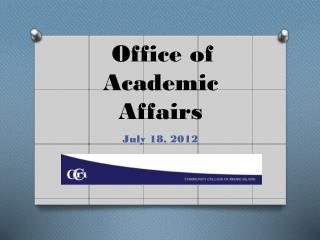 Office of  Academic Affairs