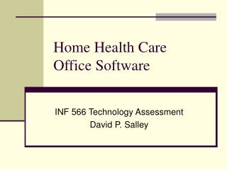Home Health Care Office Software