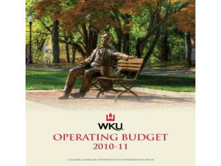 2010-11 Operating Budget