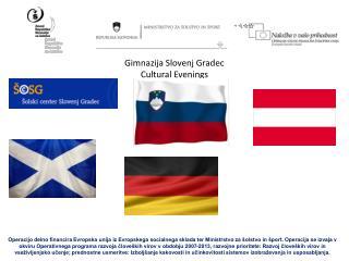 Gimnazija Slovenj Gradec Cultural Evenings