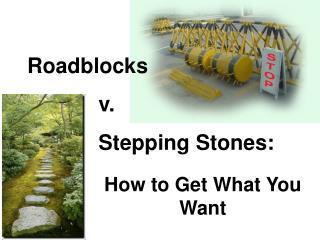 Roadblocks              v.              Stepping Stones: