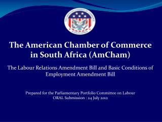 The American Chamber of Commerce in South Africa (AmCham)