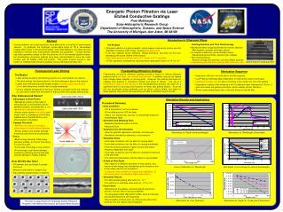 Energetic Photon Filtration via Laser  Etched Conductive Gratings Pran Mukherjee