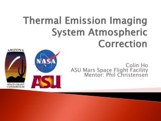 Thermal Emission Imaging System Atmospheric Correction