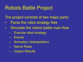 Robots Battle Project