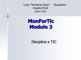 MonForTic Modulo 3
