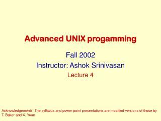 Advanced UNIX progamming
