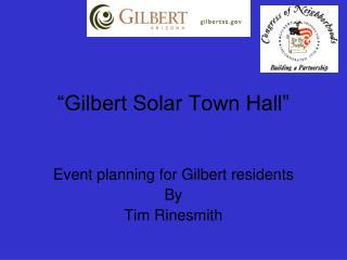 """Gilbert Solar Town Hall"""