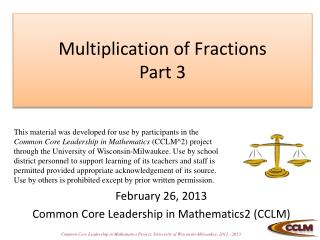 Multiplication of Fractions Part 3