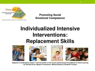Promoting Social  Emotional Competence Individualized Intensive Interventions: Replacement Skills