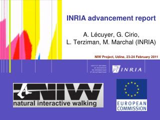 INRIA advancement report A. Lécuyer, G. Cirio,  L. Terziman, M. Marchal (INRIA)