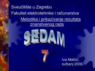 Sveucili te u Zagrebu Fakultet elektrotehnike i racunarstva   Metodika i prikazivanje rezultata    znanstvenog rada