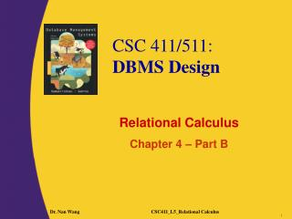 Relational Calculus Chapter 4 � Part B