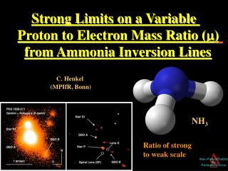 Strong Limits on a Variable  Proton to Electron Mass Ratio ( ) from Ammonia Inversion Lines