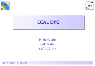 ECAL DPG