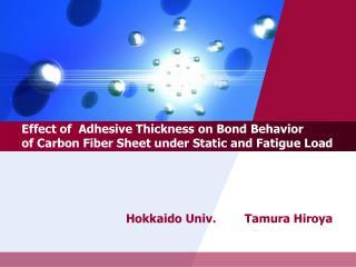 Hokkaido Univ. Tamura Hiroya
