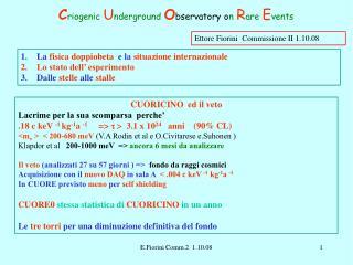 Ettore Fiorini  Commissione II 1.10.08