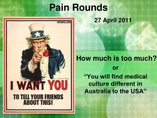 Pain Rounds 27 April 2011
