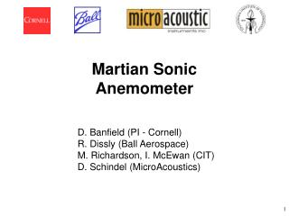 Martian Sonic Anemometer