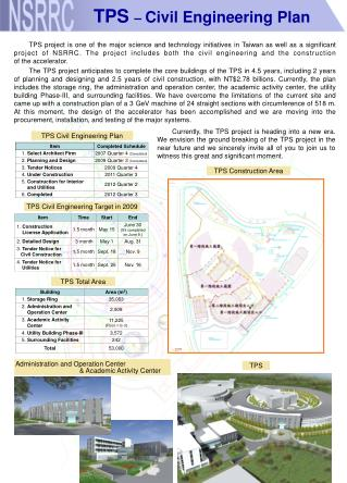 TPS  –  Civil Engineering Plan