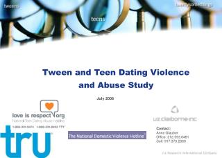 Tween and Teen Dating Violence  and Abuse Study