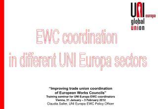 EWC coordination  in different UNI Europa sectors