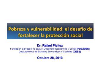 Pobreza y vulnerabilidad: el desafío de fortalecer la protección social