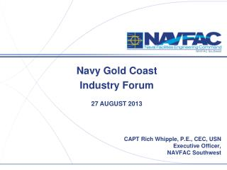 Navy Gold Coast Industry Forum 27 AUGUST 2013