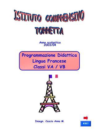 Programmazione Didattica Lingua Francese Classi VA / VB
