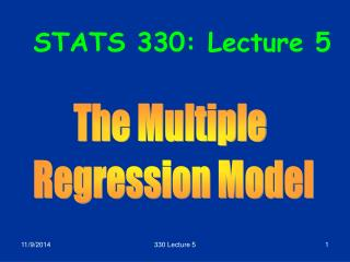 STATS 330: Lecture 5