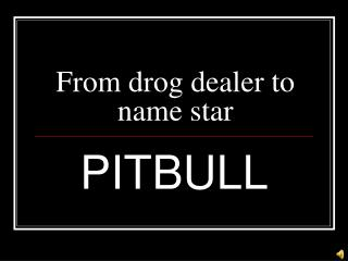 From drog dealer to name star