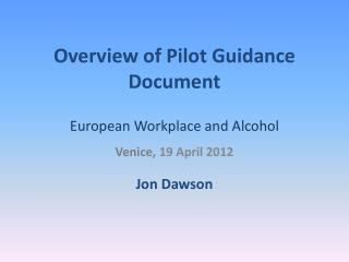 Overview of Pilot Guidance Document