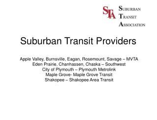 Suburban Transit Providers
