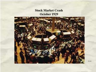 Stock Market Crash October 1929