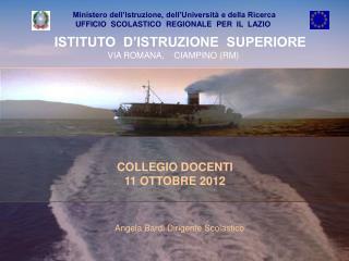 COLLEGIO DOCENTI  11 OTTOBRE 2012