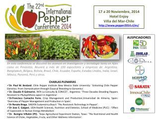 17 a 20 Noviembre, 2014  Hotel Enjoy  Viña del Mar-Chile pepper2014.cl/es/
