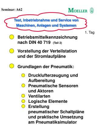 Betriebsmittelkennzeichnung nach DIN 40 719   (Teil 2) Vorstellung der Verteilstation