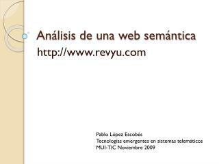 Análisis de una web semántica