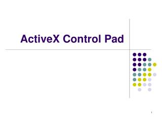 ActiveX Control Pad