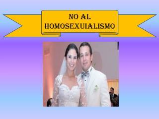 NO AL HOMOSEXUIALISMO