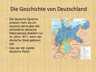 Die Geschichte von Deutschland
