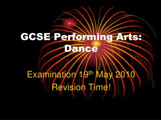 GCSE Performing Arts: Dance