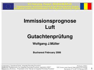 Immissionsprognose Luft Gutachtenprüfung
