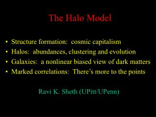The Halo Model